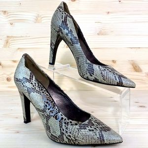 "Sam Edelman ""Sadi"" Snakeskin Pointy Toe Pumps 8.5"